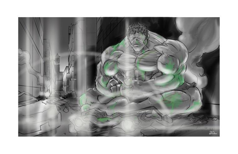 Hulk meditating chaos